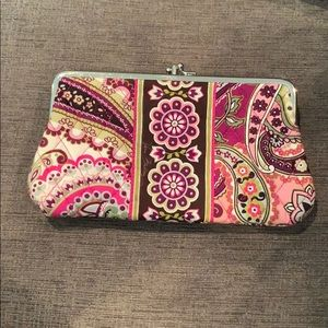 Vera Bradley Two Compartment Snap Clutch